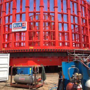 Modificaties aan een carroussel tbv het uitleggen van offshore bedrading bij Wim van Toledo